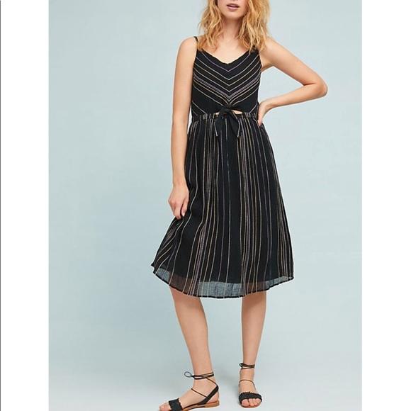 a92e61393ca9 Michael Stars Dresses | Anthropologie Midi Stripes Dress Med | Poshmark